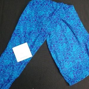 Blue and Purple Lularoe TC leggings NWT
